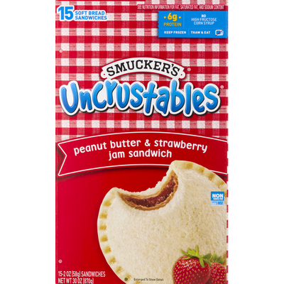 Smucker's Jam Sandwich, Peanut Butter & Strawberry
