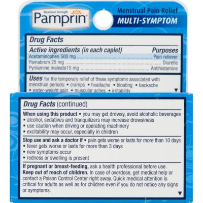 Pamprin Maximum Strength Multi-Symptom Menstrual Pain Relief