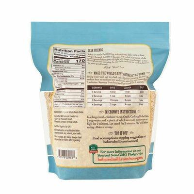 Bob's Red Mill Quick Cooking Rolled Oats, Organic