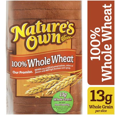 Nature's Own 100% Whole Wheat Bread