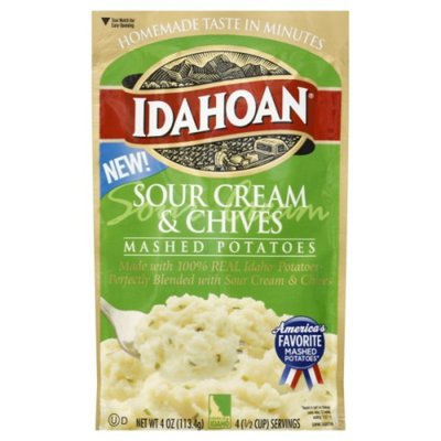 Idahoan Sour Cream & Chives Mashed Potatoes