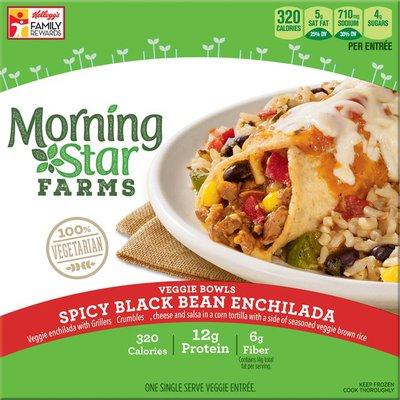 Morning Star Farms Veggie Bowls Spicy Black Bean Enchilada Veggie Entree