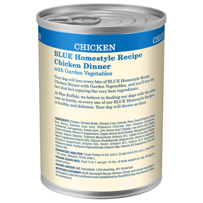 Blue Buffalo Homestyle Recipe Natural Adult Wet Dog Food, Chicken
