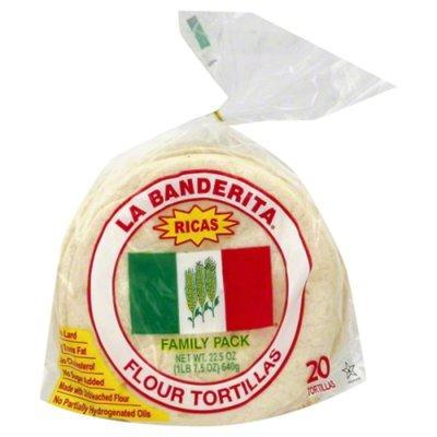 La Banderita Tortillas, Flour, Ricas, Family Pack