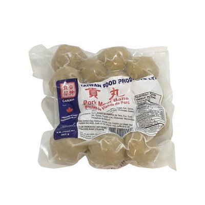 Taiwan Food Pork Meat Ball