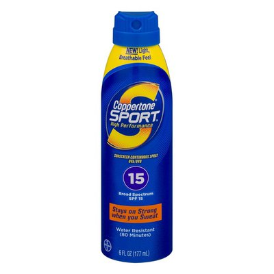 Coppertone High Performance Sunscreen Continuous Spray Broad Spectrum SPF 15