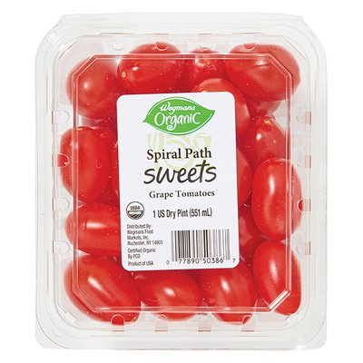 Organic Red Grape Tomato Package