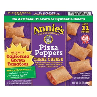 Annie's Frozen Pizza Poppers, Three Cheese, 11 Count
