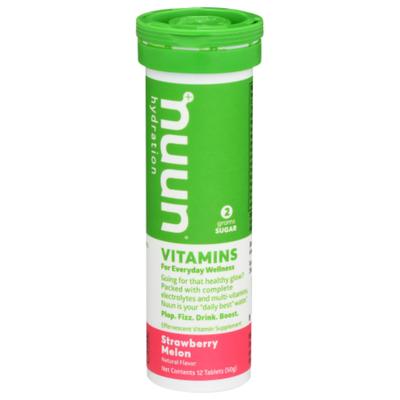 Nuun Vitamins, Tablets, Strawberry Melon