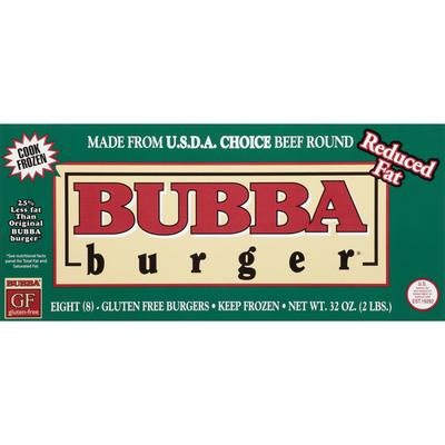 Bubba Burger Burgers, Reduced Fat