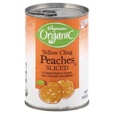Wegmans Organic Yellow Cling Peaches Sliced
