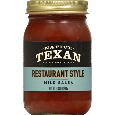 Dan's Native Texan Salsa Co. Salsa, Restaurant Style, Mild