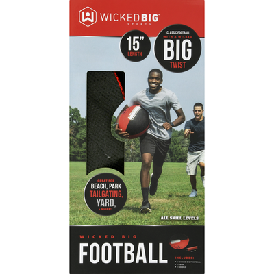 Wicked Big Sports Football, 15 Inch Length