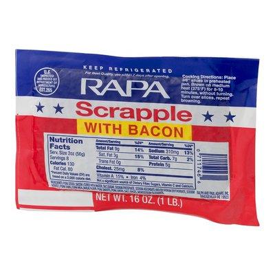 RAPA Scrapple, with Bacon