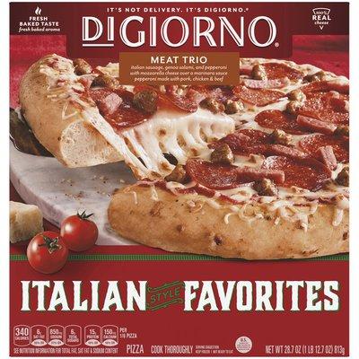 DiGiorno ITALIAN STYLE FAVORITES Meat Trio Frozen Pizza