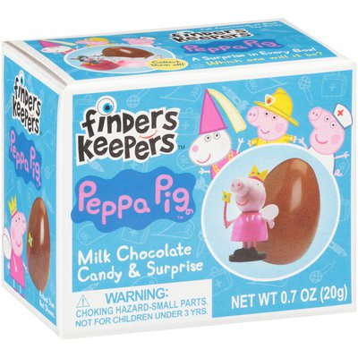 Finders Keepers Peppa Pig Milk Chocolate Candy Egg & Toy Surprise, single