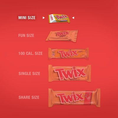 Twix Caramel Chocolate Cookie Bar Minis Size Summer Candy