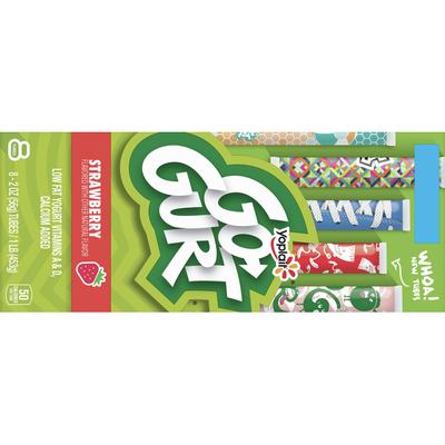 Go Gurt Yogurt, Low Fat, Strawberry, 8 Pack