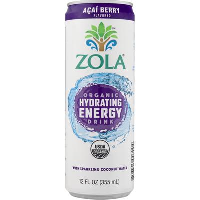Zola Organic Hydrating Energy, Acai Berry