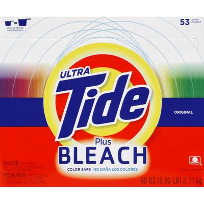 Tide Laundry Detergent, Plus Bleach, Original