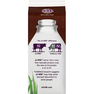 a2 Milk Milk, Reduced Fat, 2%, Chocolate