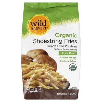 Wild Harvest Fries, Organic, Shoestring