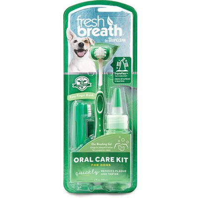 TropiClean Fresh Breath Oral Care Kit For Medium And Large Dogs