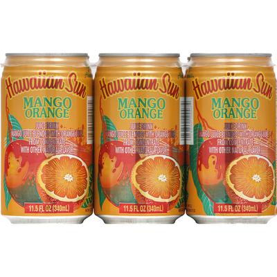 Hawaiian Sun Juice Drink, Mango Orange