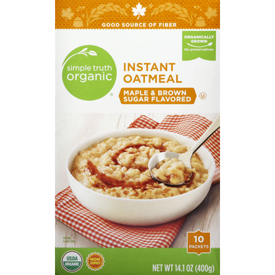 Simple Truth Organic Instant Oatmeal, Maple & Brown Sugar