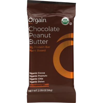 Orgain Protein Bar, Organic, Chocolate Peanut Butter, Wrapper