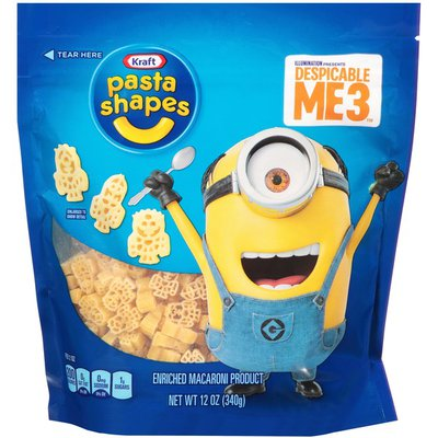 Kraft Pasta Shapes with Despicable Me 3 Macaroni Shaped Pasta
