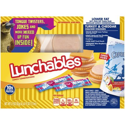 Lunchables Lower Fat Turkey & Cheddar Cracker Stackers Lunch Combination