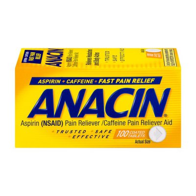 Anacin Pain Reliever & Pain Reliever Aid Coated Tablets