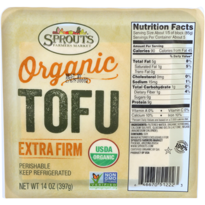 Sprouts Organic Extra Firm Tofu
