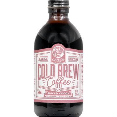 Texas Brewed Coffee, Cold Brew, Spiced Cocoa