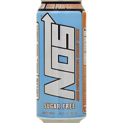 Nos Energy Drink, Sugar Free, High Performance