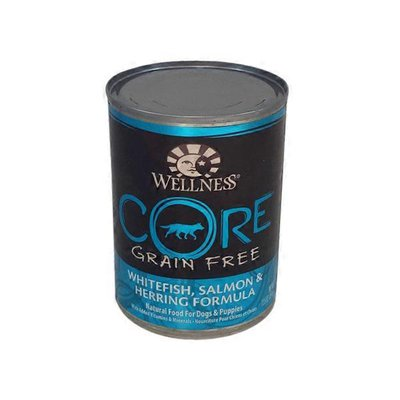 Wellness Core Grain Free Whitefish, Salmon & Herring Formula Natural Food For Dogs & Puppies