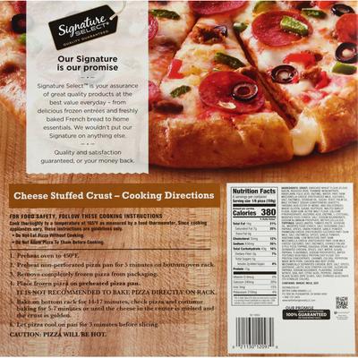 Signature Select Pizza, Supreme, Cheese Stuffed Crust