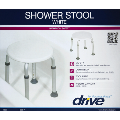 Drive Shower Stool, White