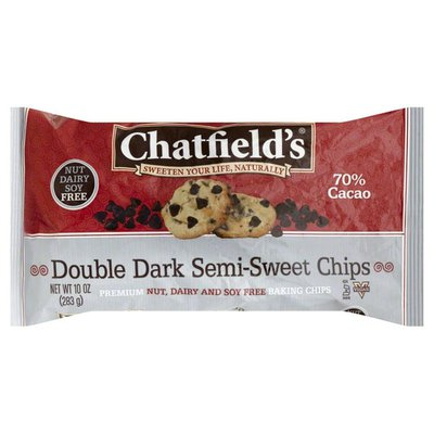 Chatfield's Semi-Sweet Chips, Double Dark, 70% Cacao