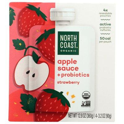 North Coast Organic Probiotic Strawberry Apple Sauce