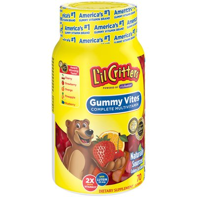 L'Il Critters Gummy Vites Daily Kids Gummy Multivitamin: Vitamins C, D3 And Zinc For Immune Support* 70 Ct (35-70 Day Supply), 5 Delicious Flavors From America'S Number One Kids Gummy Vitamin Brand