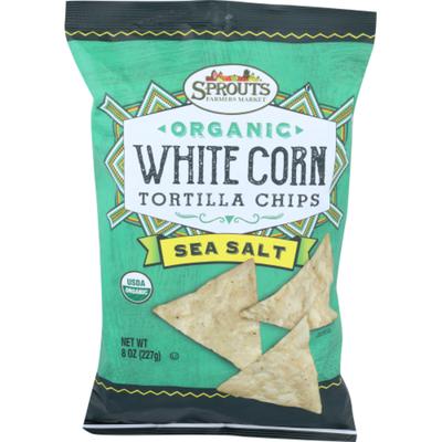 Sprouts Organic Sea Salt White Corn Chips