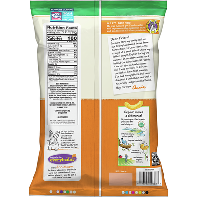 Annie's Cheesy Baked Corn Puffs, Certified Organic