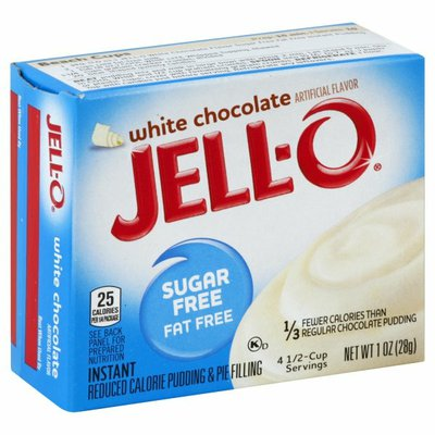 Jell-O White Chocolate Sugar Free & Fat Free Instant Pudding & Pie Filling Mix