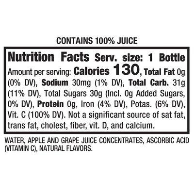 Mott's 100% Apple White Grape Juice