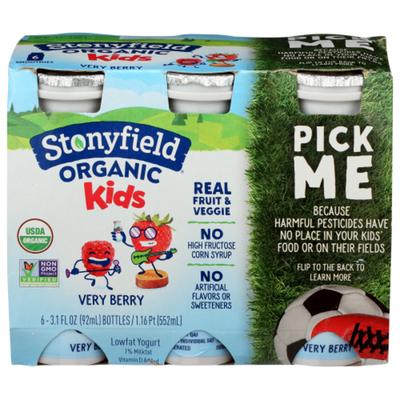 Stonyfield Organic Kids Very Berry Lowfat Yogurt Smoothies