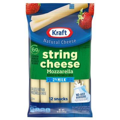 Kraft String Cheese Mozzarella Cheese Snacks with 2% Milk