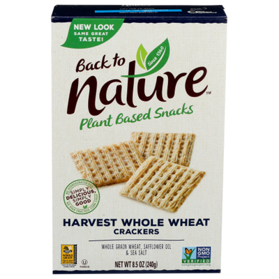 Back to Nature Crackers, Harvest Whole Wheat