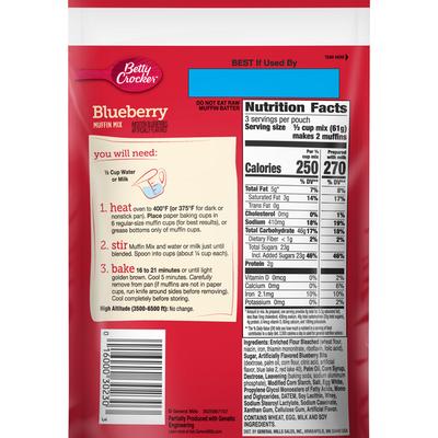 Betty Crocker Blueberry Muffin Mix